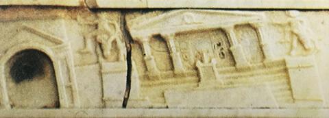 ユピテル神殿倒壊のレリーフ