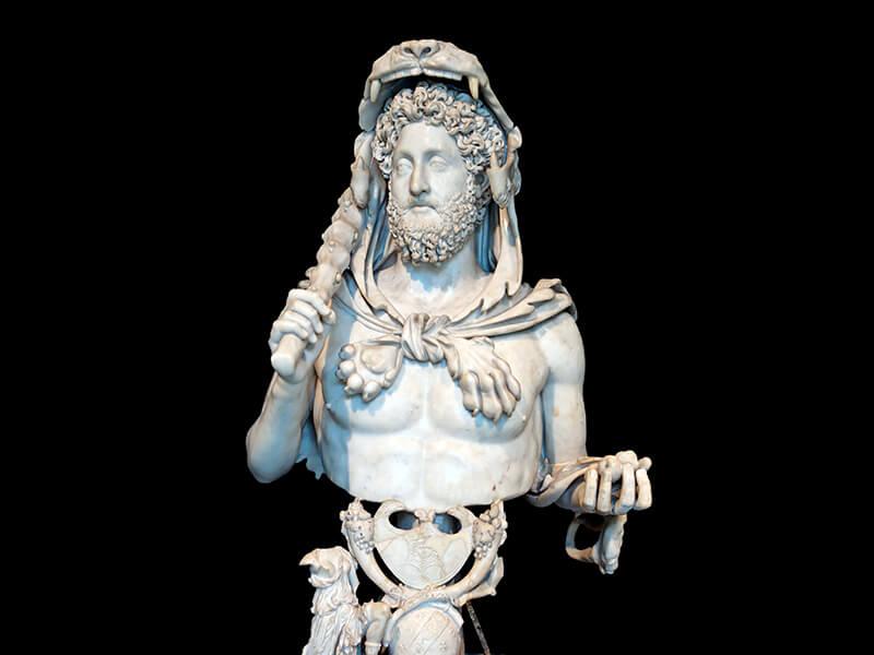 ヘラクレス姿のコンモドゥスの像