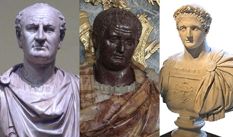 フラウィウス朝の皇帝たち