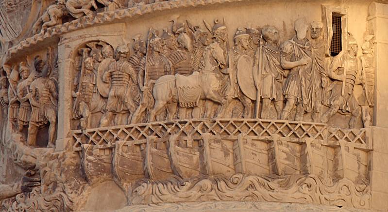 古代ローマの舟橋2