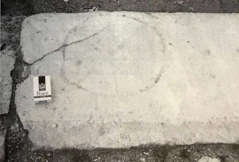 フォロ・ロマーノの石に描かれた図形