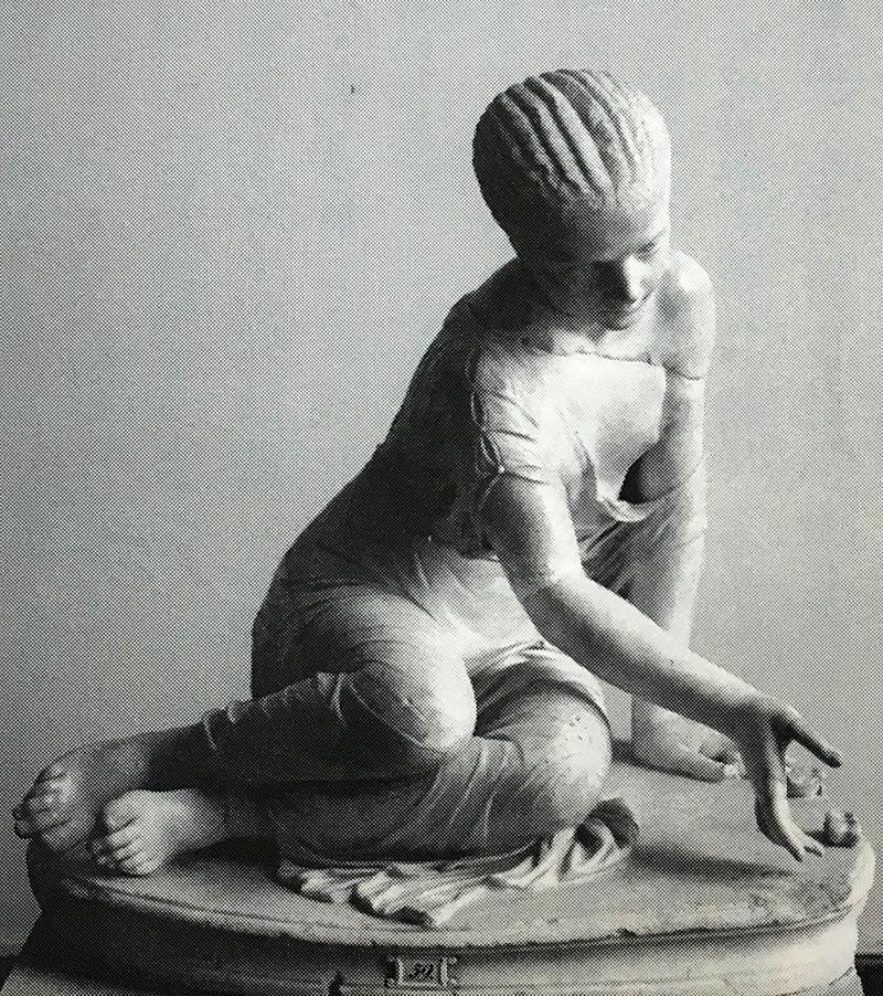 アストラガルスで遊ぶ古代ローマの少女