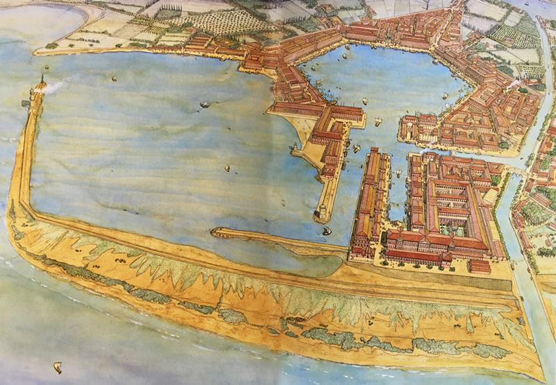 ポルトゥス港のイラスト