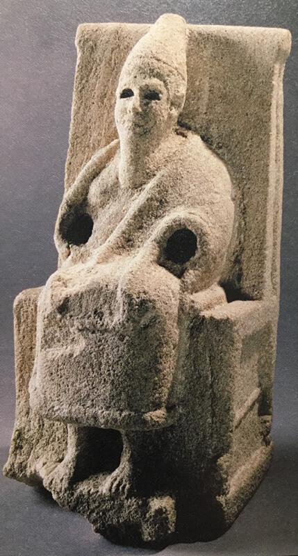 古代セム族の神エルの像の写真