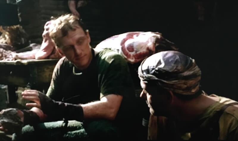 精肉を売るヴォレヌスとプッロの映像