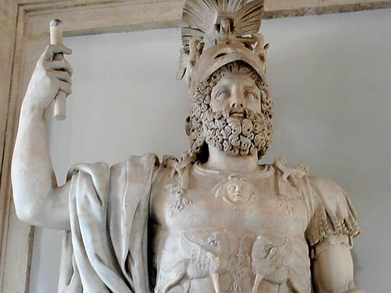 エペイロス王ピュロスの像