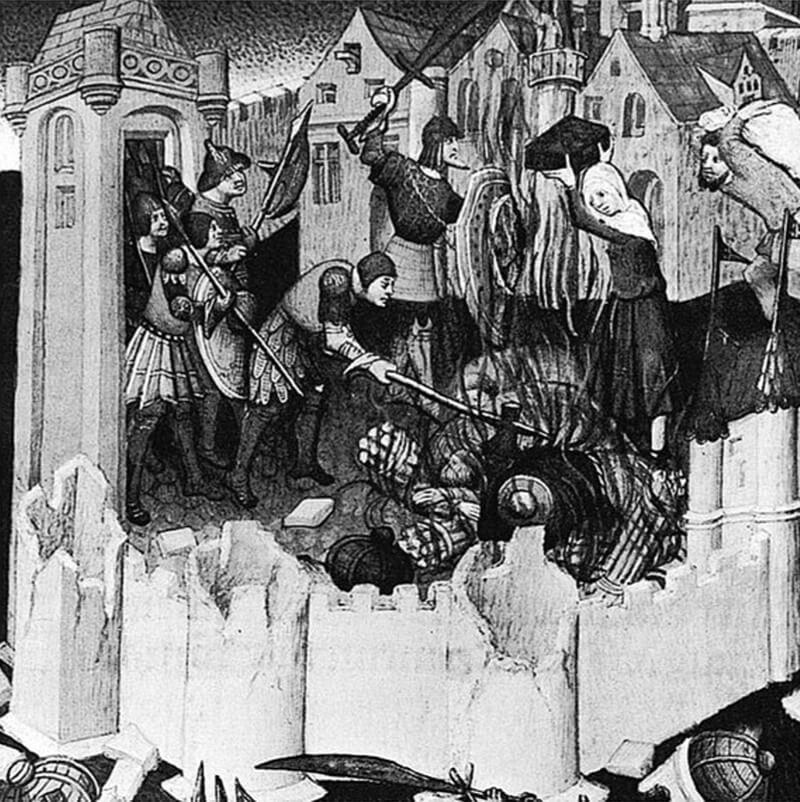 サグントゥム攻囲戦の様子を表した15世紀のミニチュアール