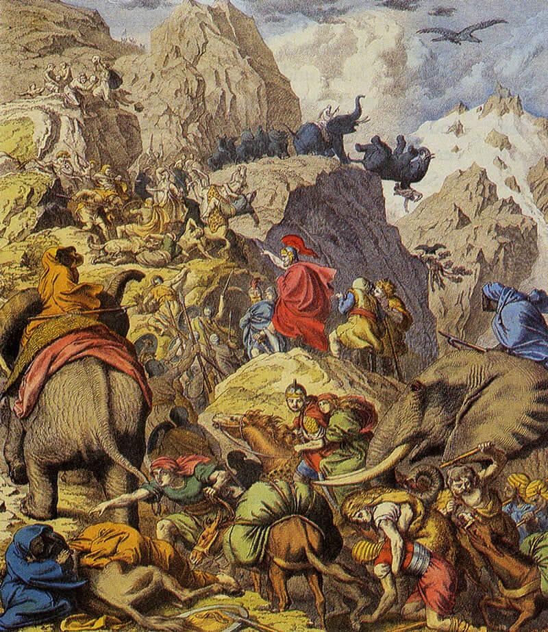 ハンニバルのアルプス越え絵画