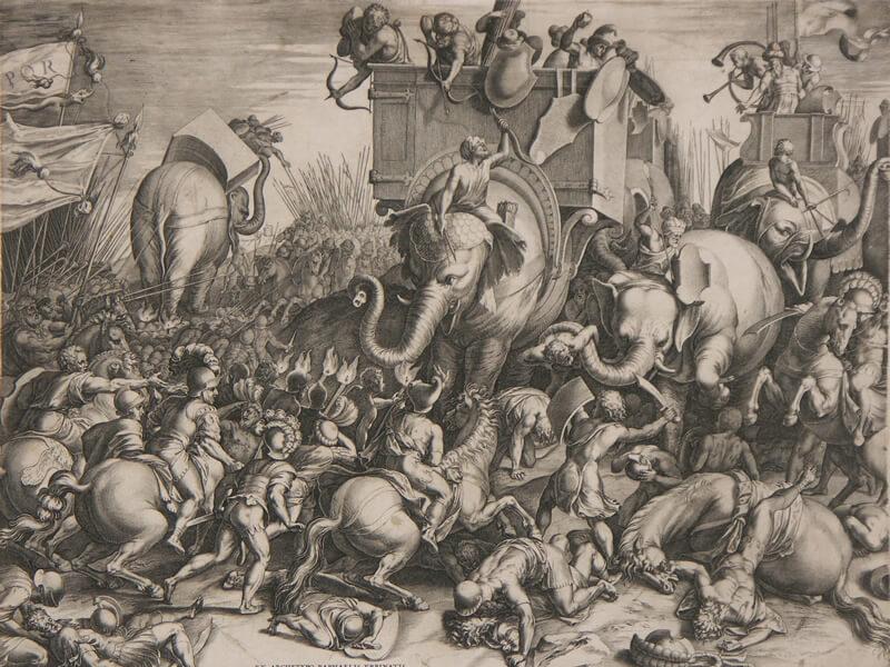 ザマの戦いの絵画