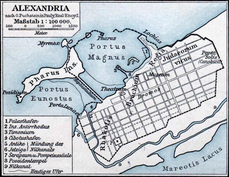 アレクサンドリアの地図
