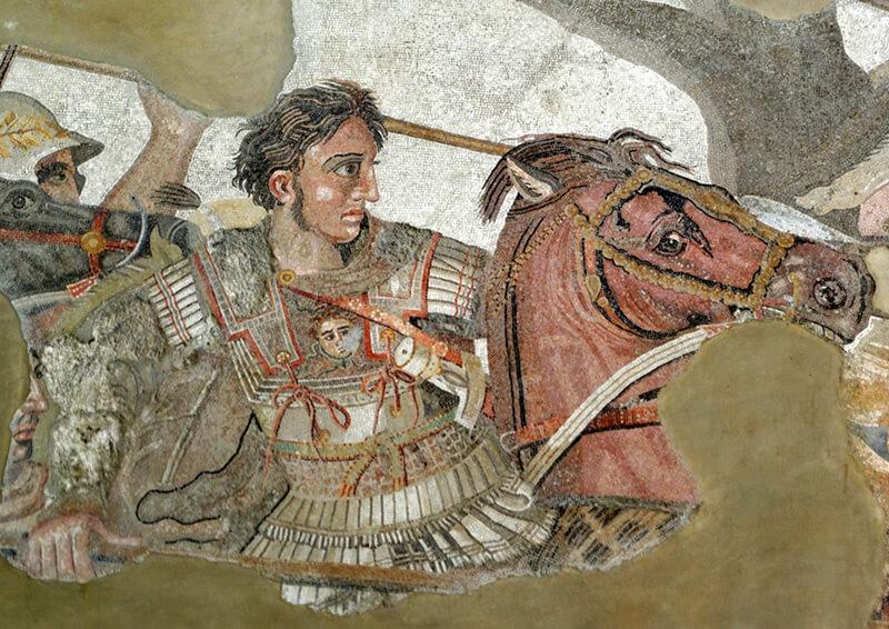 アレクサンダー大王のモザイク画