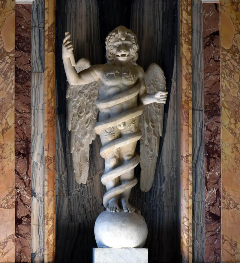 獅子頭神像の写真
