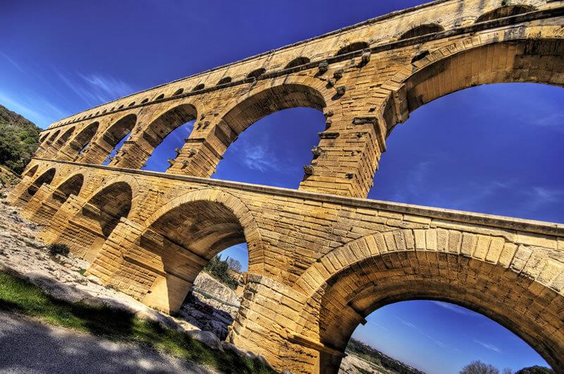 ポン・デュ・ガールの橋脚写真