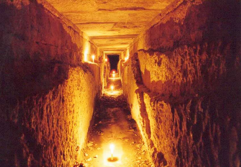 導水管内部の様子の写真