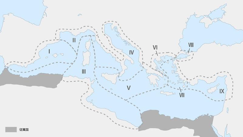 海賊討伐のエリア地図