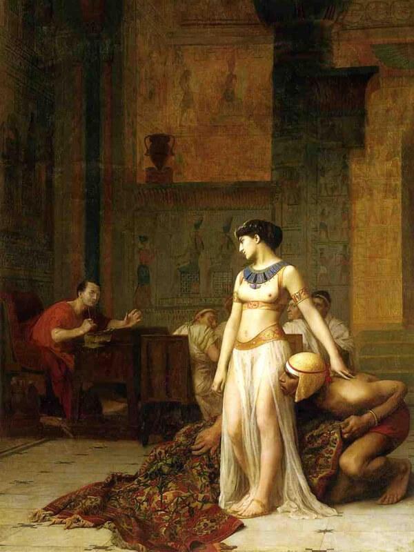 カエサルの前に現れるクレオパトラ