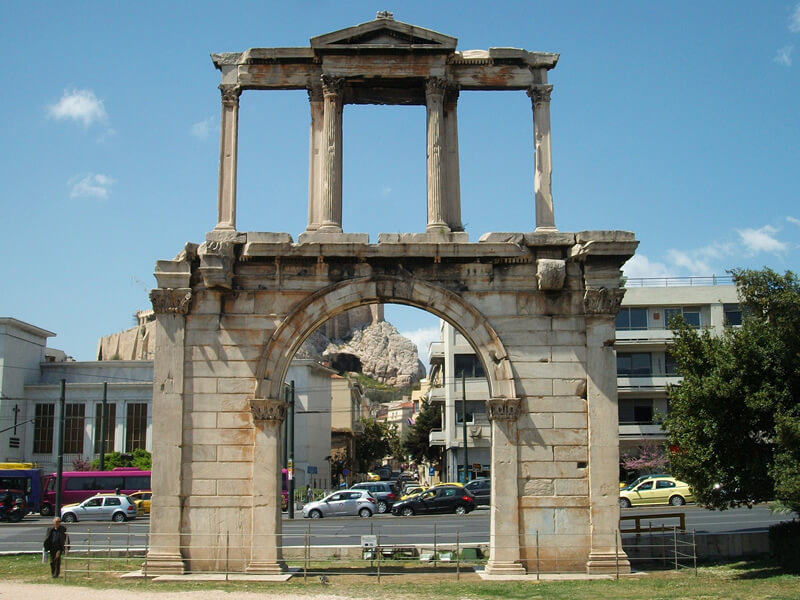 ハドリアヌスの凱旋門の写真
