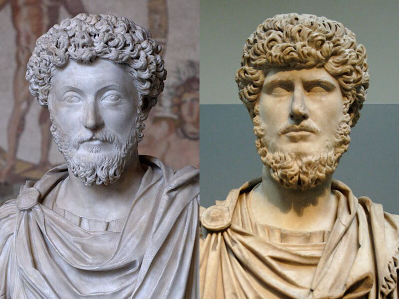 マルクス・アウレリウスとルキウス・ウェルス