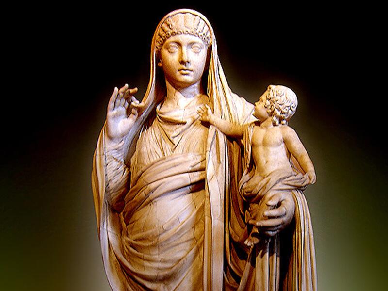 メッサリナとブリタンニクスの像
